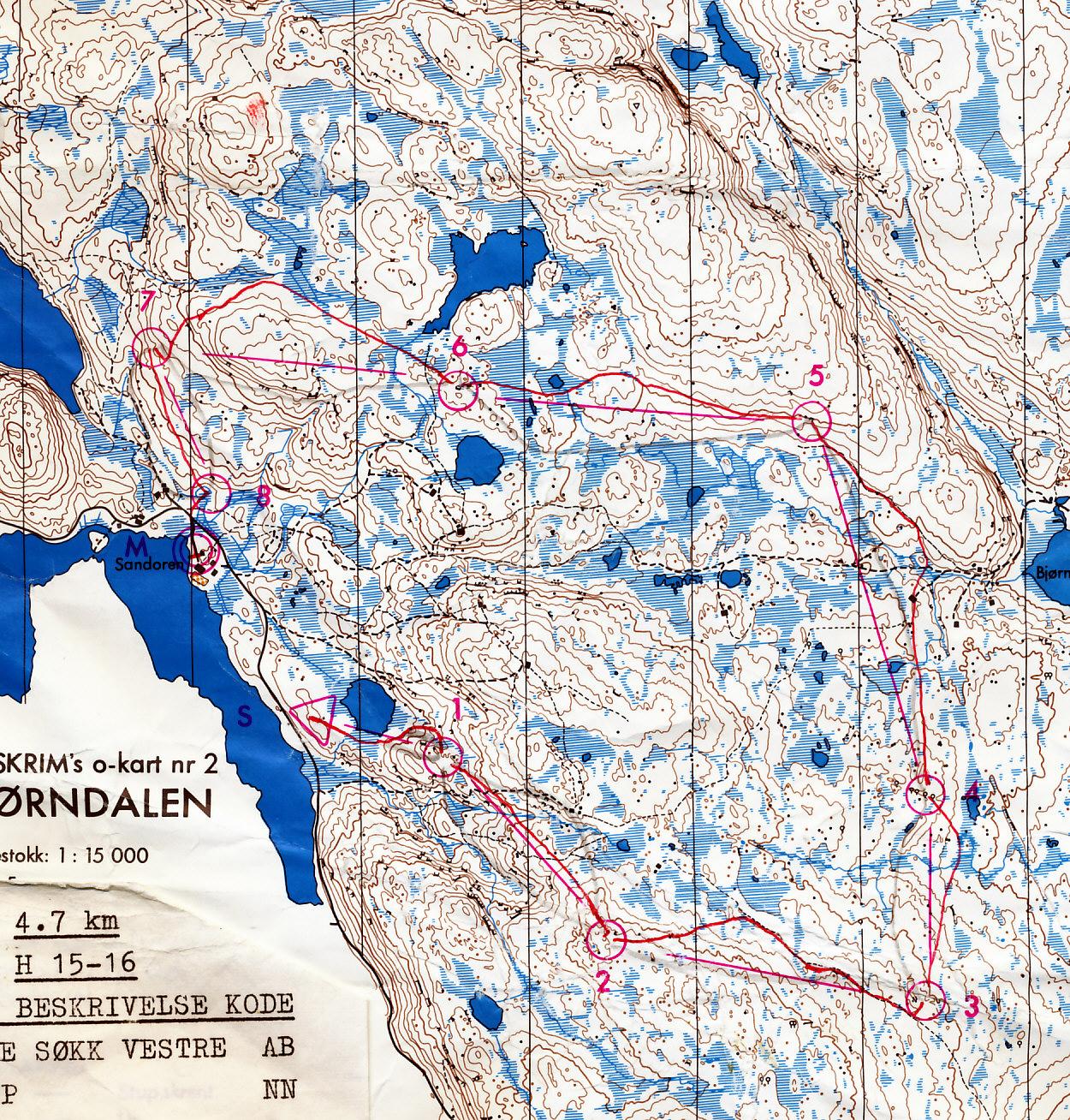 skrim kart Mitt digitale veivalgsarkiv :: Skrim (18/08/1973) skrim kart