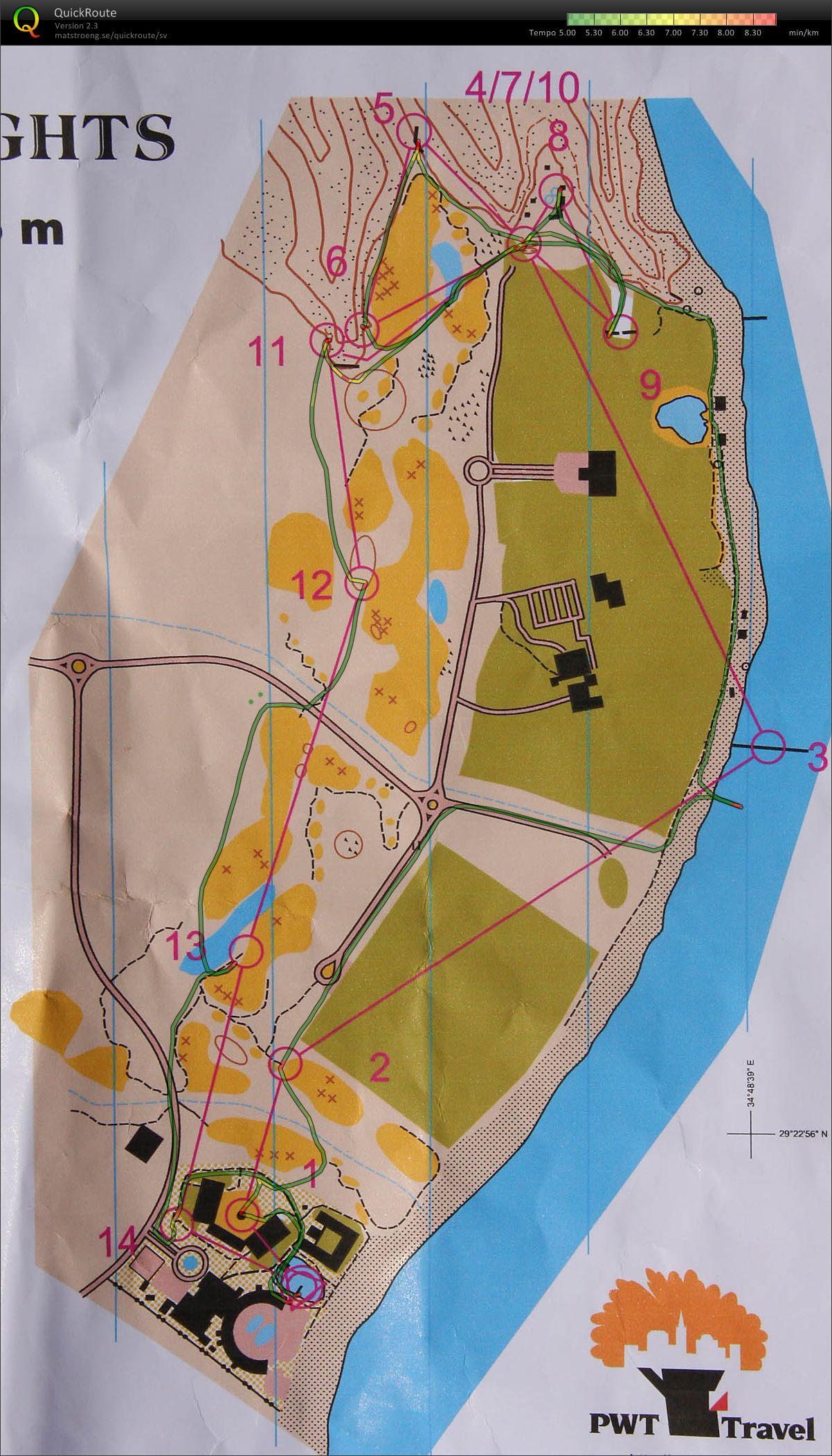Orienteering map in Egypt - Taba Heights