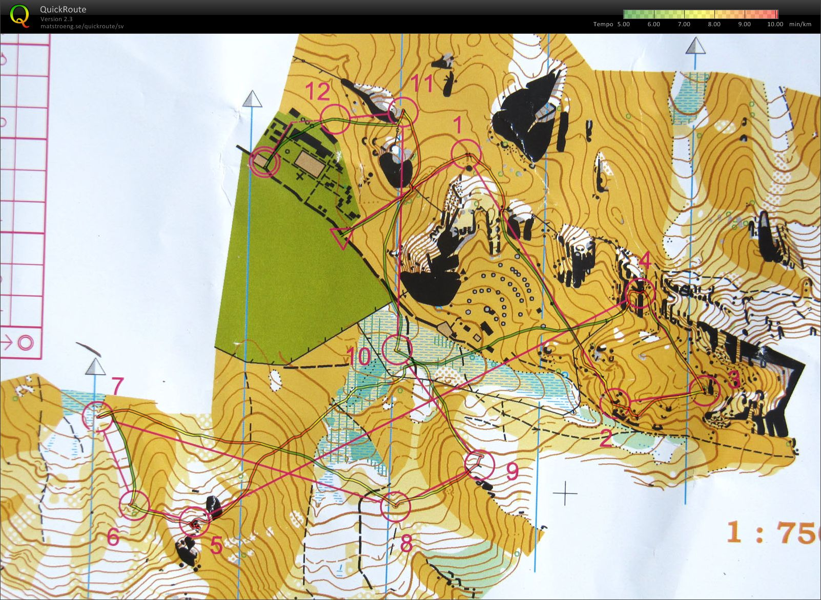 Orienteering map in Mongolia